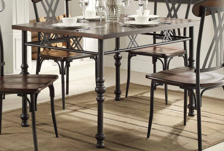 Loyalton Dining Table - Wood/Metal