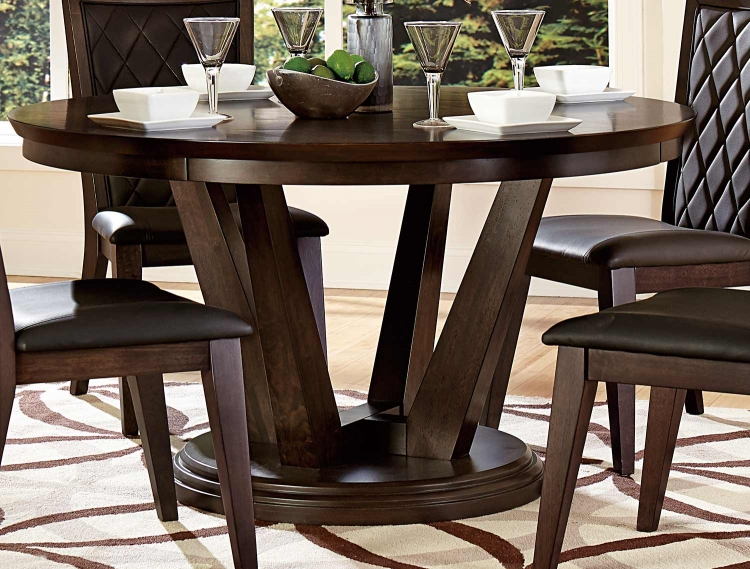 Villa Vista Dining Table - Dark Walnut