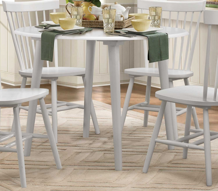 April Round Dining Table - White