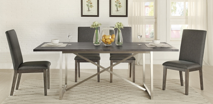 Fulton Dining Set - Weathered Grey