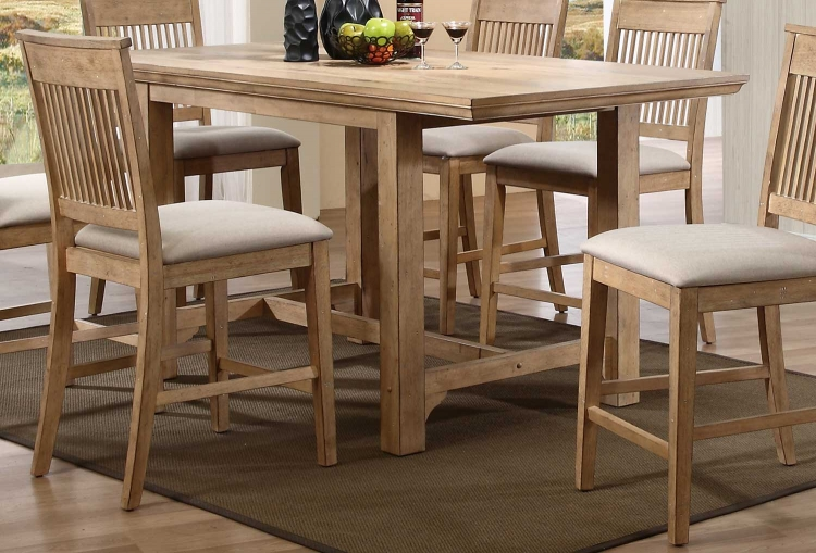 Candace Trestle Counter Height Table - Natural