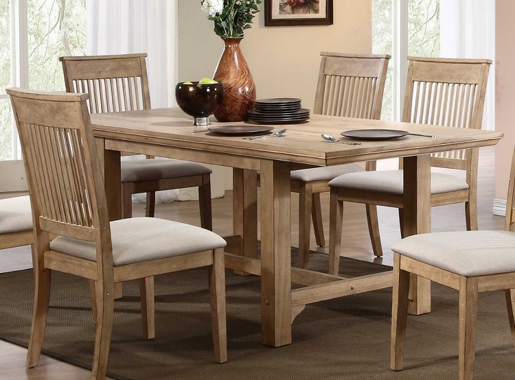 Candace Trestle Dining Table - Natural