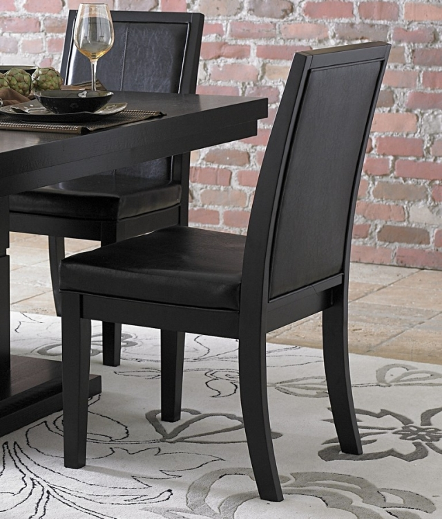 Cicero Side Chair in Black Leatherette - Homelegance