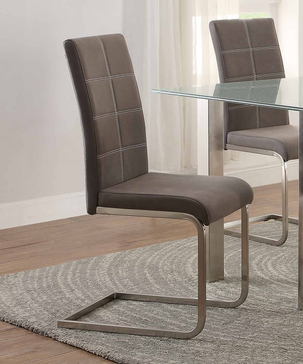 Nerissa Side Chair - Neutral Tone Fabric