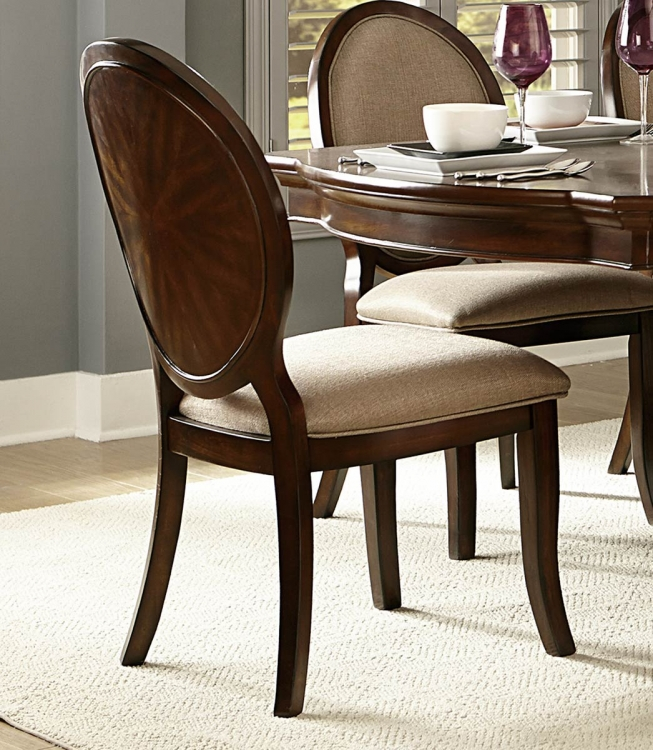 Delavan Side Chair - Brown Cherry