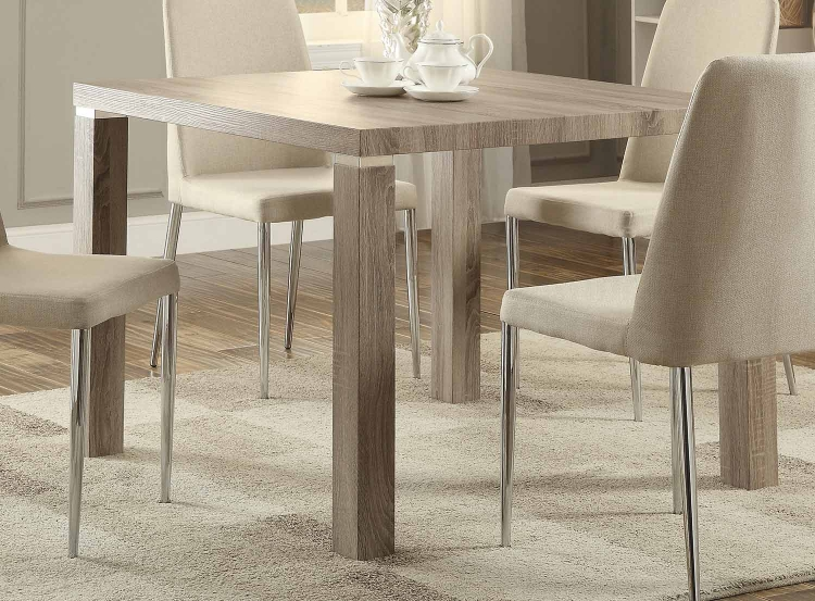 Luzerne Dining Table - Washed Weathered Wood Legs