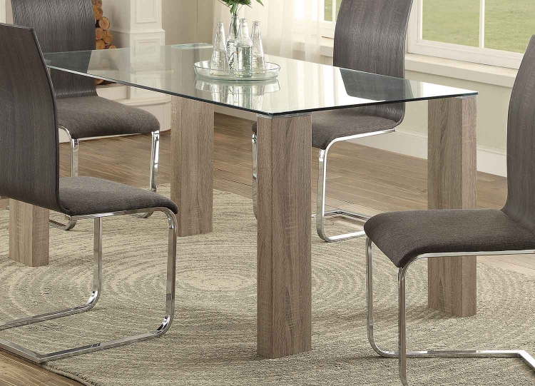 Zeba Dining Table - Weathered Wood
