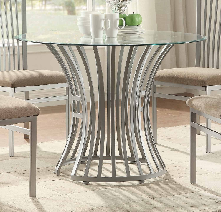 Sodus Dining Table - Gunpowder Metal