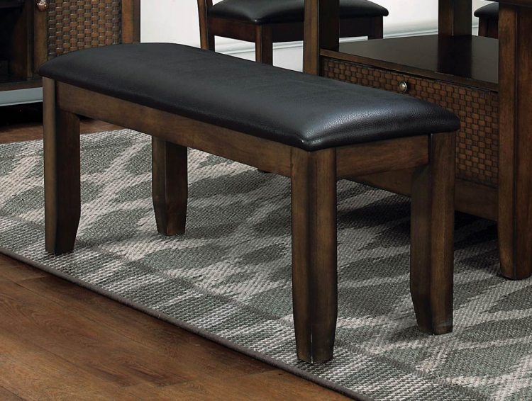 Wickham 48-inch Bench - Burnished Dark Walnut