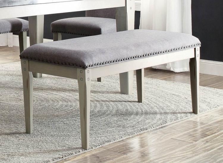 Mendel 49-inch Bench - Grey