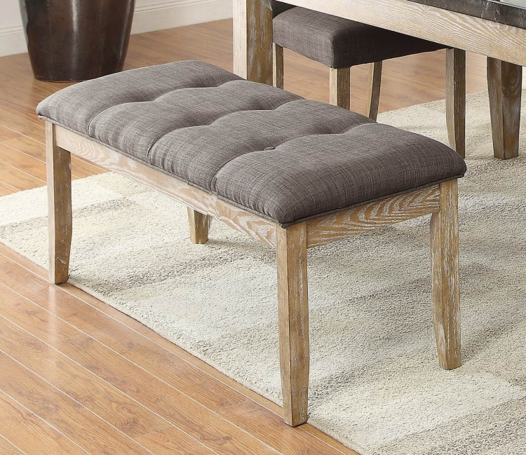 Huron 49-inch Bench - Weathered Wood