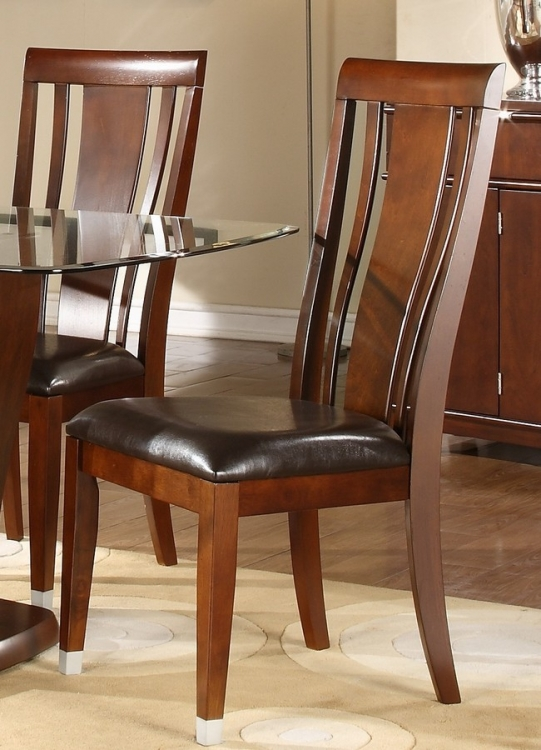 Emmett Side Chair in Dark Brown Leatherette