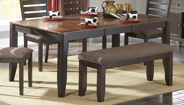 Natick Dining Table with Butterfly Leaf - Homelegance
