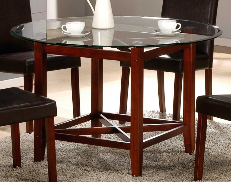 Beyond Dining Table with Glass Top - Homelegance