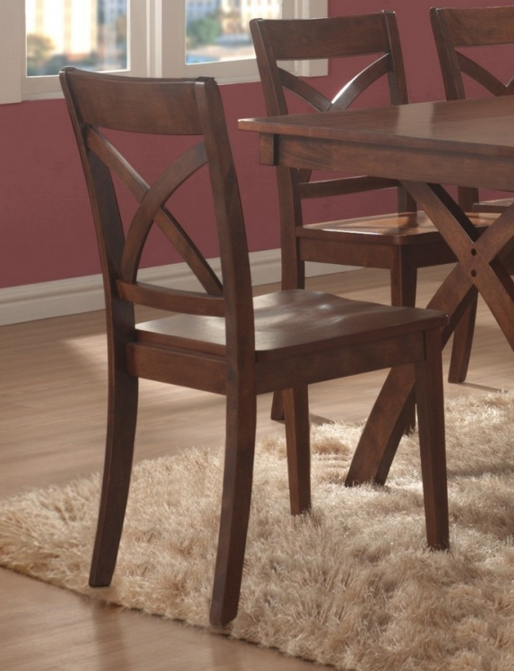 Pell Side Chair in X-Back Style - Homelegance