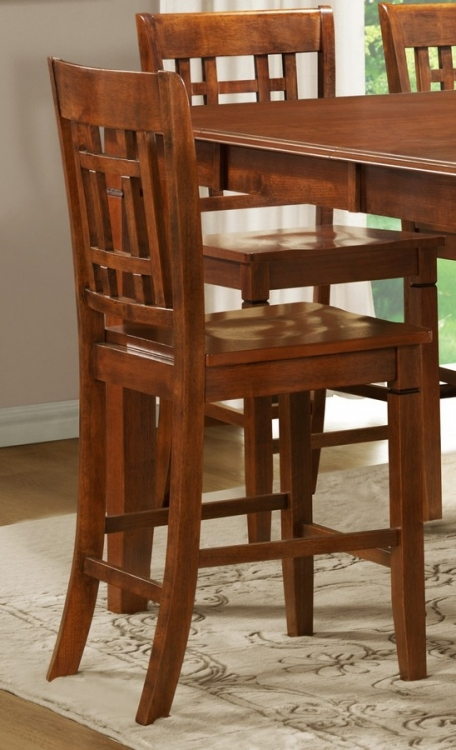 Gresham Counter Height Chair in Lattice Back Style