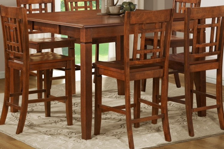 Gresham Counter Height Table in Nyota Pattern - Homelegance