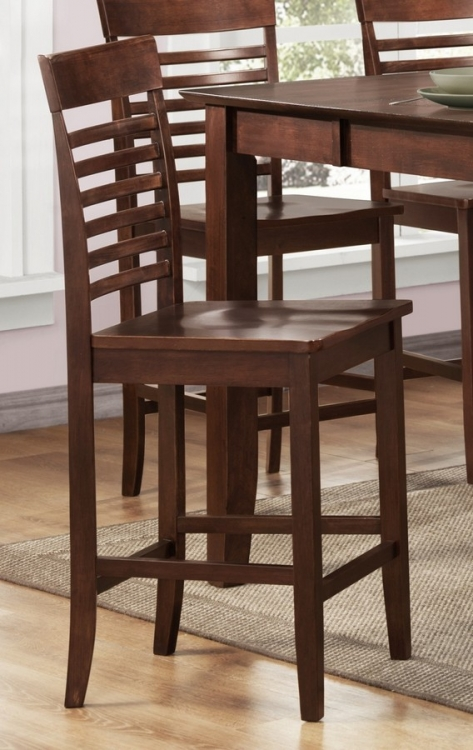 Tyler Counter Height Chair in Slat Back Style