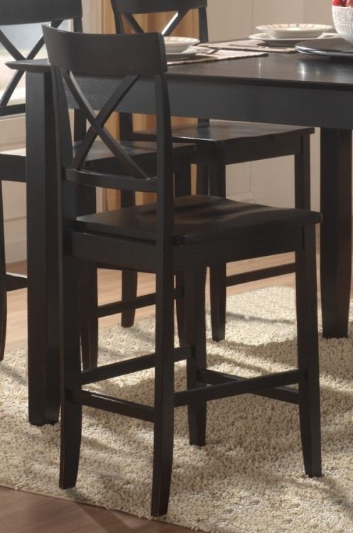 Billings Counter Height Chair in X-Back Style - Homelegance