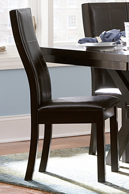 Sherman Side Chair - Dark Brown Leatherette - Homelegance