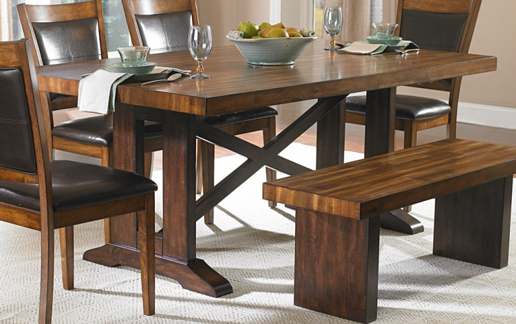 Aberdeen Dining Table - Acacia Veneer - Homelegance