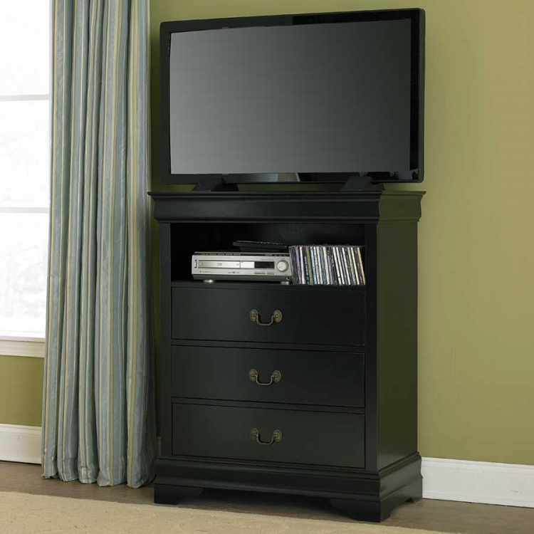 Marianne TV Chest - Black - Homelegance