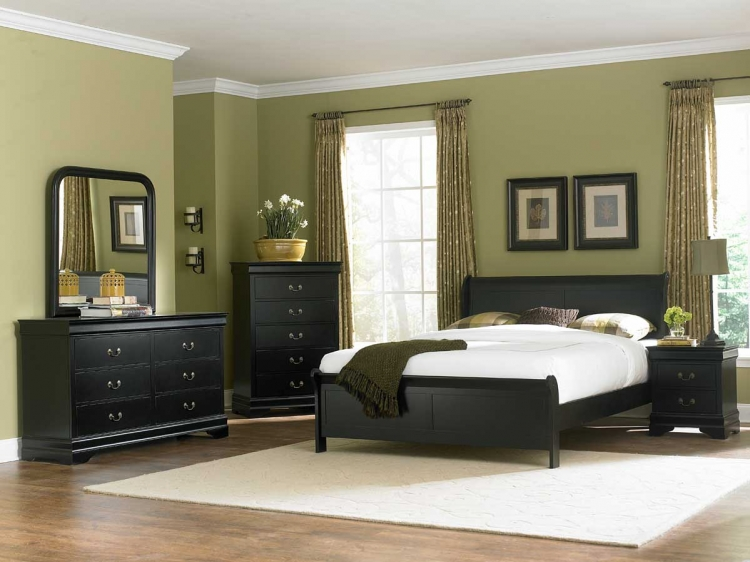 Marianne Bedroom Set - Black - Homelegance