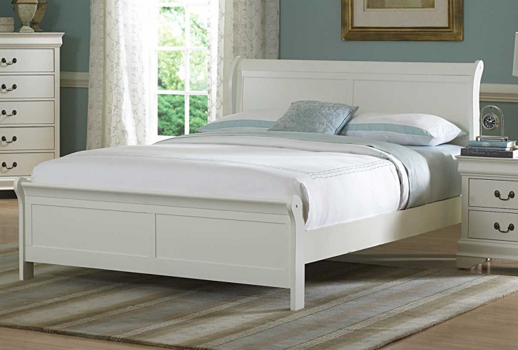 Marianne Bed - White - Homelegance