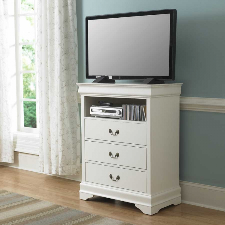 Marianne TV Chest - White - Homelegance