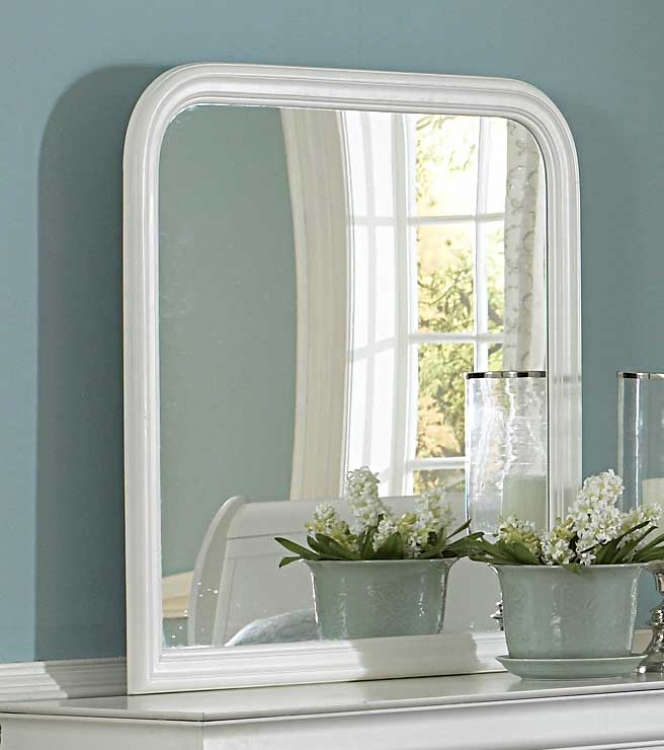 Marianne Mirror - White - Homelegance