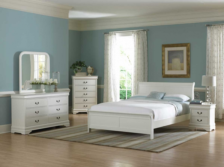 Marianne Bedroom Set - White - Homelegance
