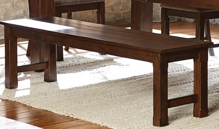 Schleiger 66-inch Bench - Burnished Brown
