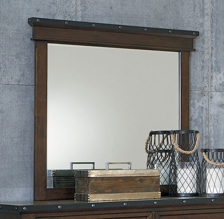 Schleiger Mirror - Burnished Brown