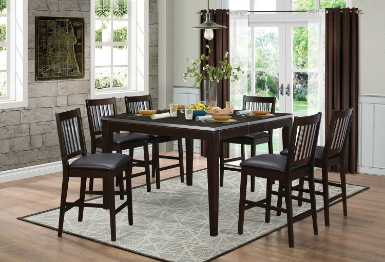 Pasco Counter Height Dining Set - Espresso