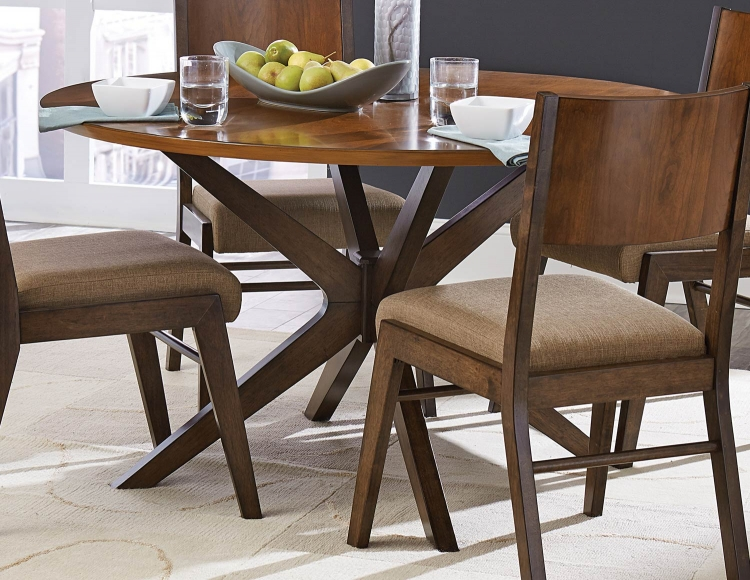 Bhaer Round Dining Table - Two-tone