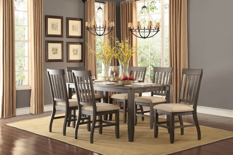 Nantes Dining Set - Wire Brushed