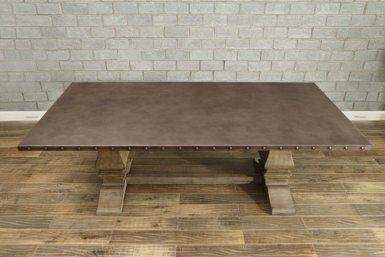 Anna Claire Dining Table - Driftwood/Zinc