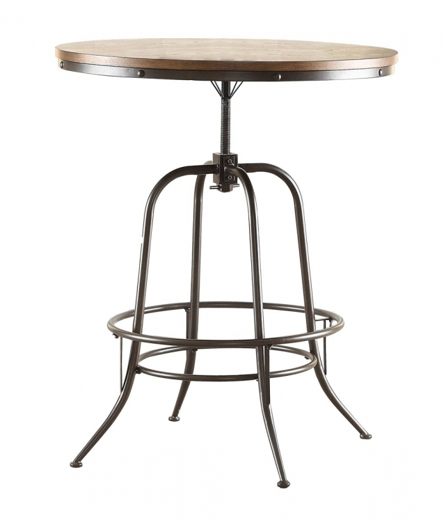 Angstrom Round Counter Height Table - Adjustable Height