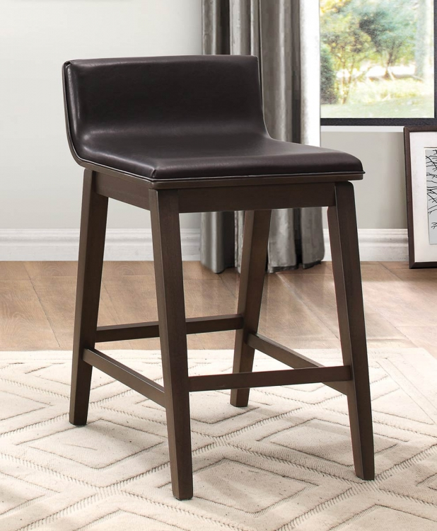 Rochelle Counter Height Chair - Dark Brown Bi-Cast