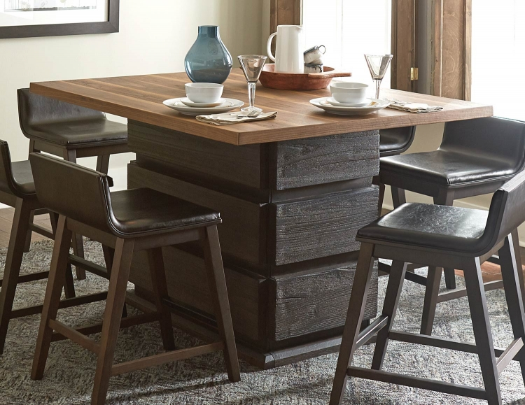 Rochelle Counter Height Dining Table - Dark Brown/Natural