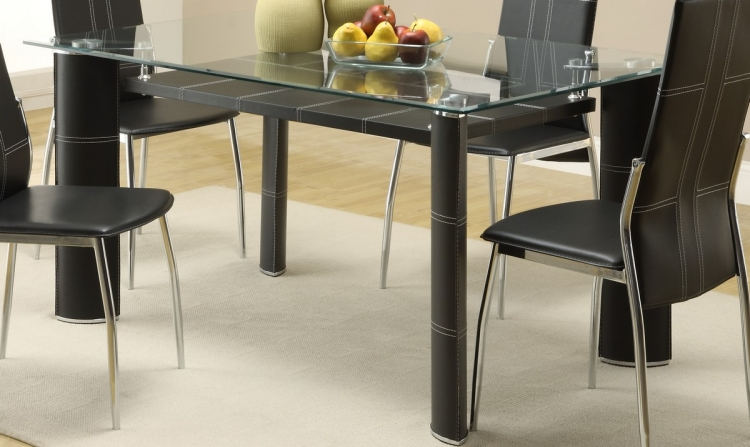 Wilner Dining Table with Glass Top - Homelegance
