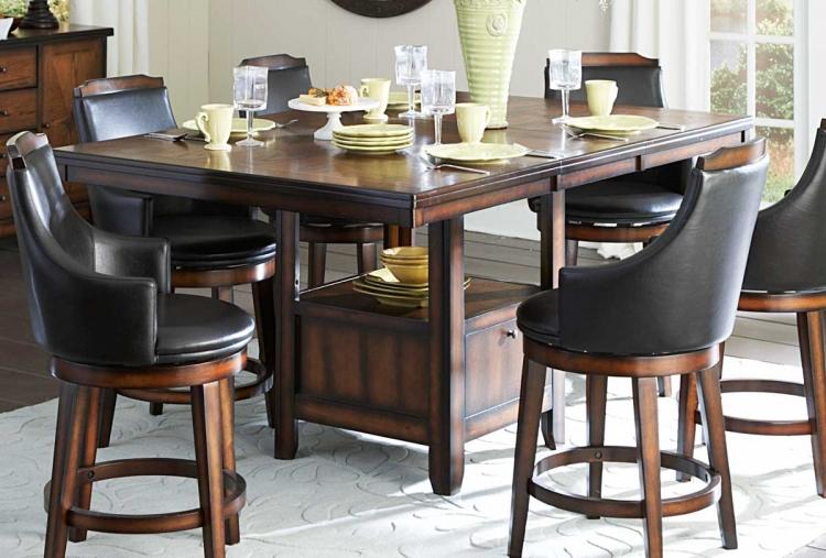 Bayshore Counter Height Table - Medium Walnut