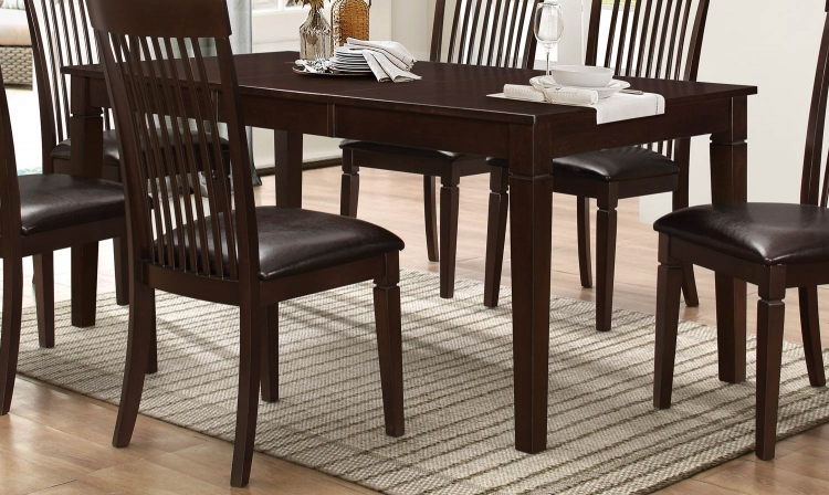 Minden Dining Table - Warm Brown