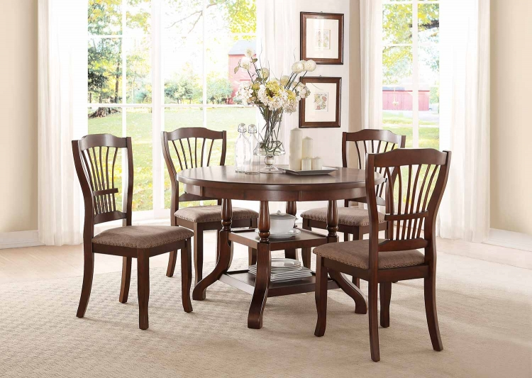Frankford Round Dining Set - Brown