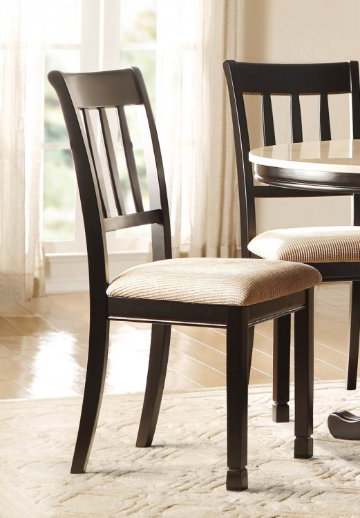 Dearborn Side Chair - Black/Brown