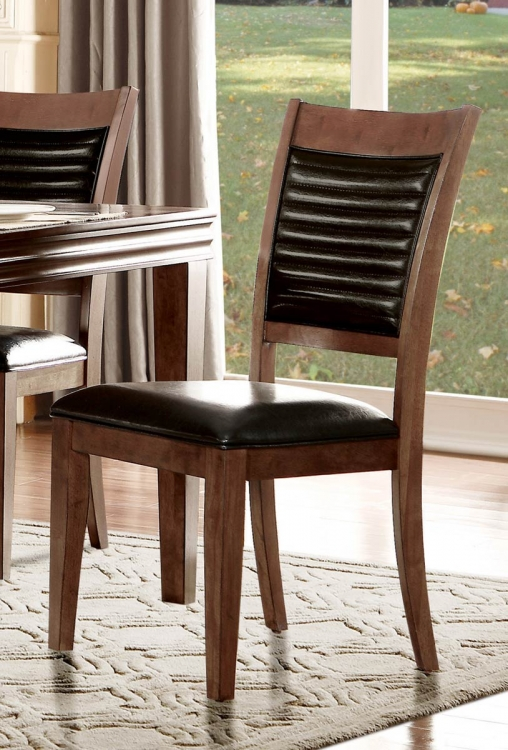 Catalina Side Chair - Warm Oak/Black