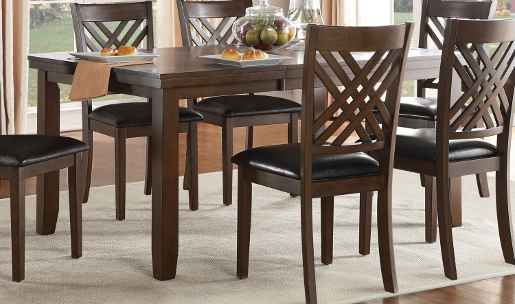 Sandia Dining Table - Brown Cherry