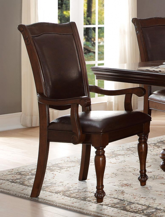 Lordsburg Arm Chair - Brown Cherry