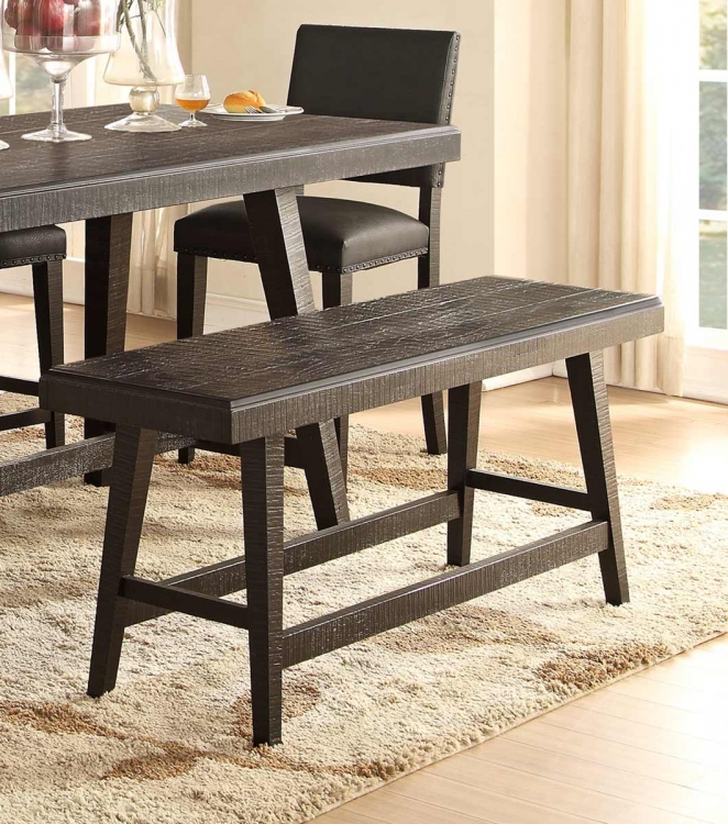 Fenwick 60-inch Counter Height Bench - Dark Gray