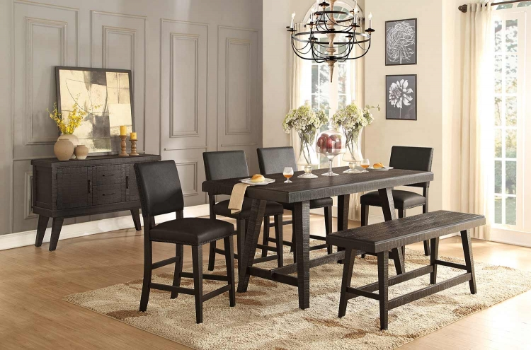 Fenwick Rectangular Counter Height Dining Set - Dark Gray